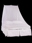 Double Wedge Mosquito Net in White